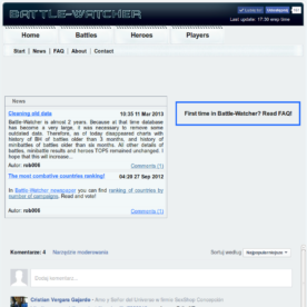 Shutting down battle-watcher.com