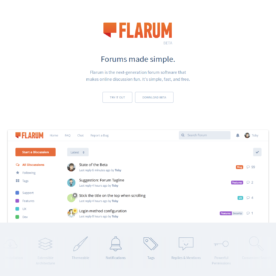 A few words about Flarum