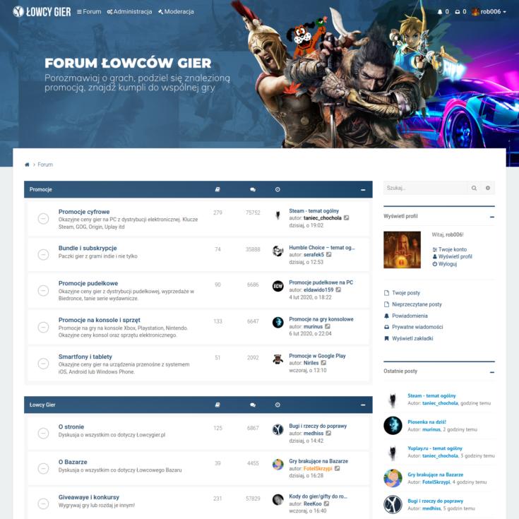🔗 Łowcy Gier – new forum