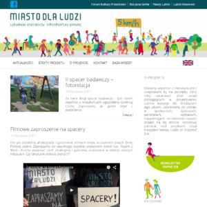 Strona projektu Miasto dla Ludzi