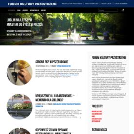 Nowa strona Forum Kultury Przestrzeni