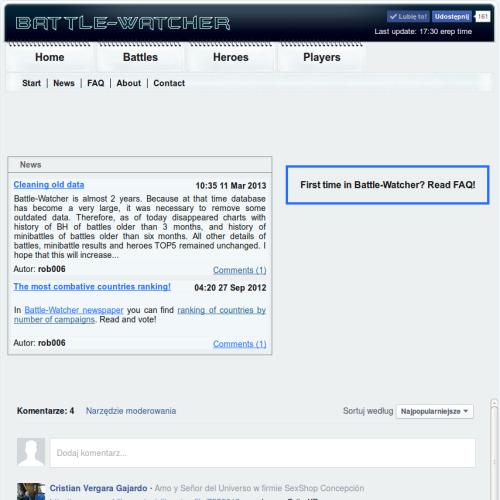 Wyłączenie battle-watcher.com